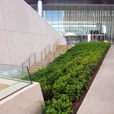 Detail Of A Modern Patio Stock Photo