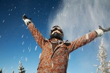 Free Happy Girl In The Mountains Royalty Free Stock Photos - 15563958