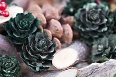 Free Christmas Wreath Stock Image - 15564931