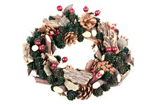 Free Christmas Wreath Stock Photography - 15564982