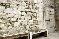 Free Little Old Door In Split Stock Photos - 15565093