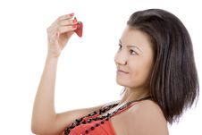 Free Beautiful Young Woman Enjoy Strawberry Royalty Free Stock Image - 15565246