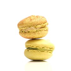 Free Macaroons Composition On A White Background Royalty Free Stock Images - 15565349