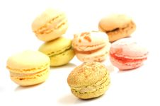 Free Macaroons Composition On A White Background Stock Image - 15565351