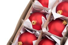 Free Boxes With Red Baubles Royalty Free Stock Images - 15565709