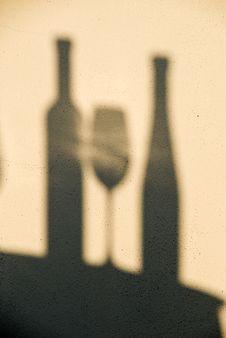 Free Shadows Of Wine Royalty Free Stock Photos - 15566388