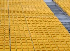 Spectators Seat And Stairs Stock Photography