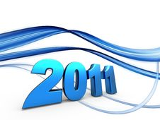 Free 3d New Year 2011 Royalty Free Stock Image - 15567756