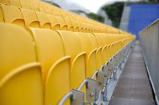 Spectator Seats And Walkway Royalty Free Stock Image