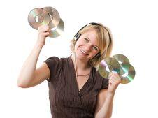 Free Woman With Headphones Stock Photos - 15568143