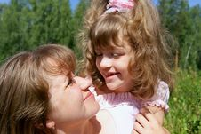 Free Cheerful Mother And The Daughter Stock Photography - 15568342