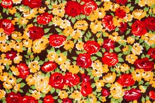 Free Colored Cloth With Bright Flowers, Background Stock Images - 15569214