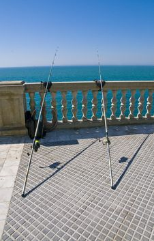 Free Two Fishing Rods Stock Images - 15569424
