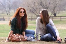 Two Young Woman Stock Image