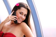Free Woman  Calling By Phone Stock Images - 15570204