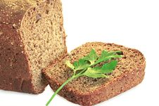 Free Dietary Rye Bread, With Herbs, Isolated On White Royalty Free Stock Photography - 15570207
