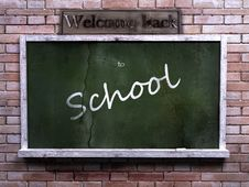Free Urban Interior With  Blackboard On Brick Wall Royalty Free Stock Photos - 15570398