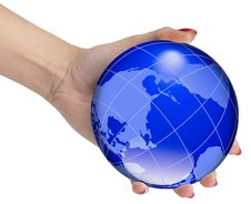 Free Hand With Earth Globe Stock Image - 15571311