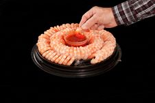 Shrimp Tray Stock Photography