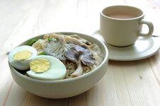 Delicious Noodle And Tea Stock Photos