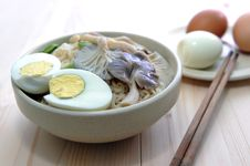 Delicious Noodle And Eggs Royalty Free Stock Photo