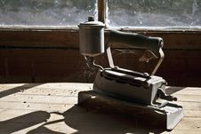 Antique Steam Iron Stock Photo