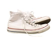Worn Sport Shoes Royalty Free Stock Images