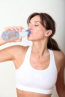 Free Woman Drinking Water Royalty Free Stock Images - 15573329