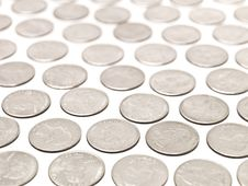 Free Quarter Coins Royalty Free Stock Photos - 15573358
