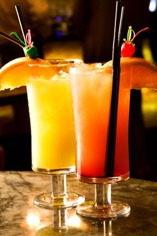 Free Tequila Sunrise Cocktail Royalty Free Stock Photography - 15574427