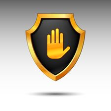 Free Shield. Vector. Royalty Free Stock Image - 15574456