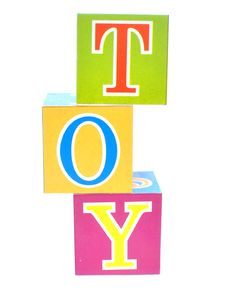 Word Toy Spelled Out In Baby Blocks Royalty Free Stock Photography