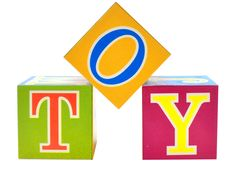 Word Toy Spelled Out In Toy Blocks Stock Photo