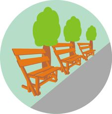 Free Benches In Park Stock Photo - 15575080