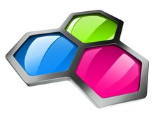 Hexagonal Color Concept Stock Photo