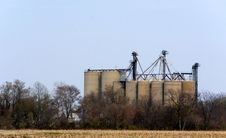 Grainery On Farmland Stock Images