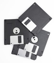 Free Black Floppy Disks Stock Photo - 15577410