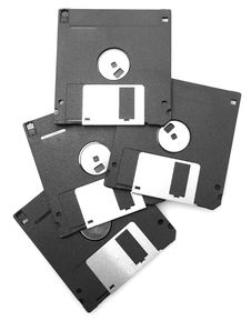 Free Black Floppy Disks Stock Images - 15577444