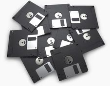 Free Black Floppy Disks Stock Images - 15577484