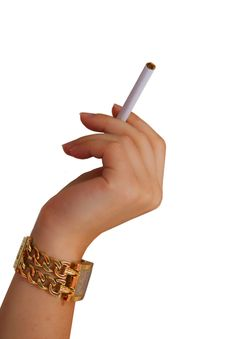 Free Hand Watch And A Cigarette Royalty Free Stock Photography - 15577967