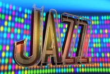 Abstract Jazz Background Stock Image