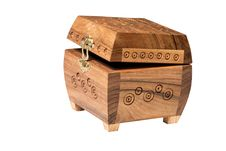 Free Engraved Wooden Boxes Royalty Free Stock Photography - 15578077