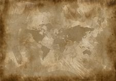 Free Old Paper With A Map Stock Images - 15578264