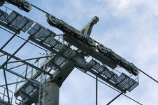 Free Cableway Pylon Against Cloudy Sky Royalty Free Stock Photos - 15578578