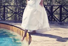 Free The Bride Under Water Stock Image - 15579381