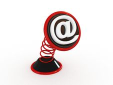 3d Email Symbol Spring Sign Royalty Free Stock Images