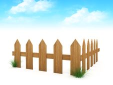 Free 3d Wooden Fence Royalty Free Stock Images - 15579849