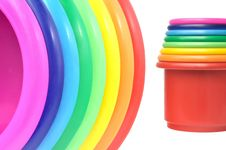 Free Colored Flower Pots Stock Images - 15581114