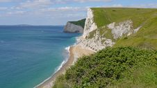 Free Coastal Path In Dorset. Royalty Free Stock Images - 15581179