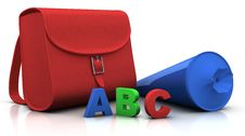 Free Satchel And  Schultuete  And ABC Stock Image - 15581271